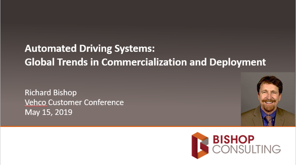 Richard Bishop held an amazing speech about truck automation at Vehco Customer Conference