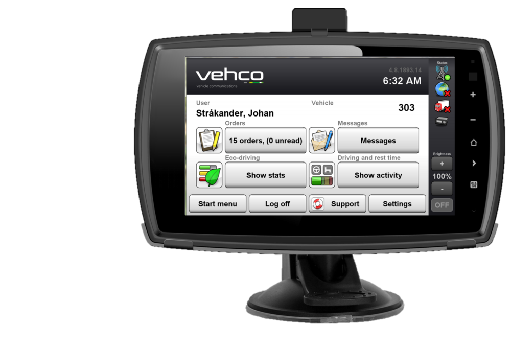 Vehco Vision Mobile: Android Tablet for Heavy Commercial Vehicles